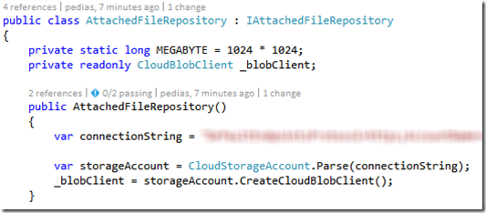 Temporary file download links in Azure Storage